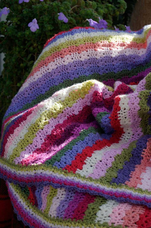 crochet sweet pea blanket